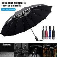 Automatic Umbrella Reverse Folding Business Umbrellas Windproof Portable Rain&Sun Umbrella ALS88