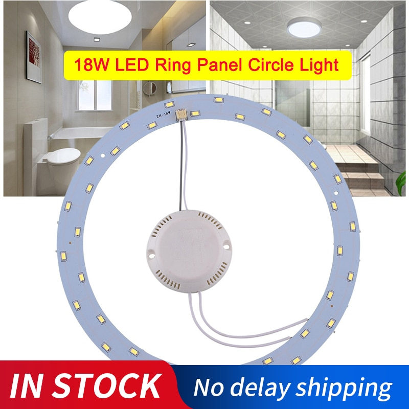 Panel Circular de luz LED de 18W 36Leds, tablero de techo redondo AC220V SMD 5730, tablero Circular LED para lámpara blanco puro