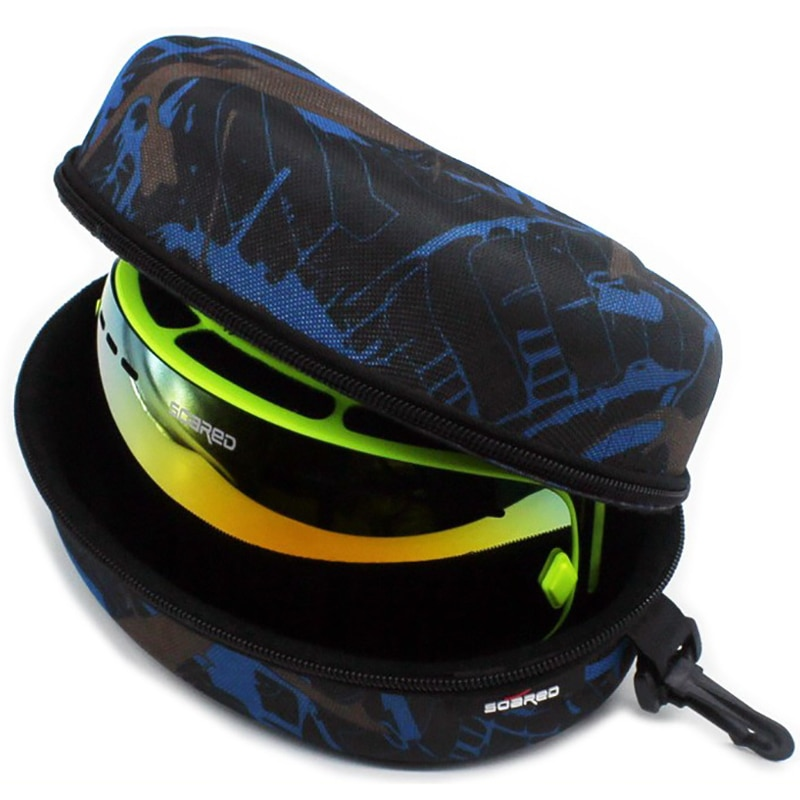 Adult Child Snow Ski Eyewear Case Water Resistant Portable Snowboard Skiing Goggles Sunglasses Carry