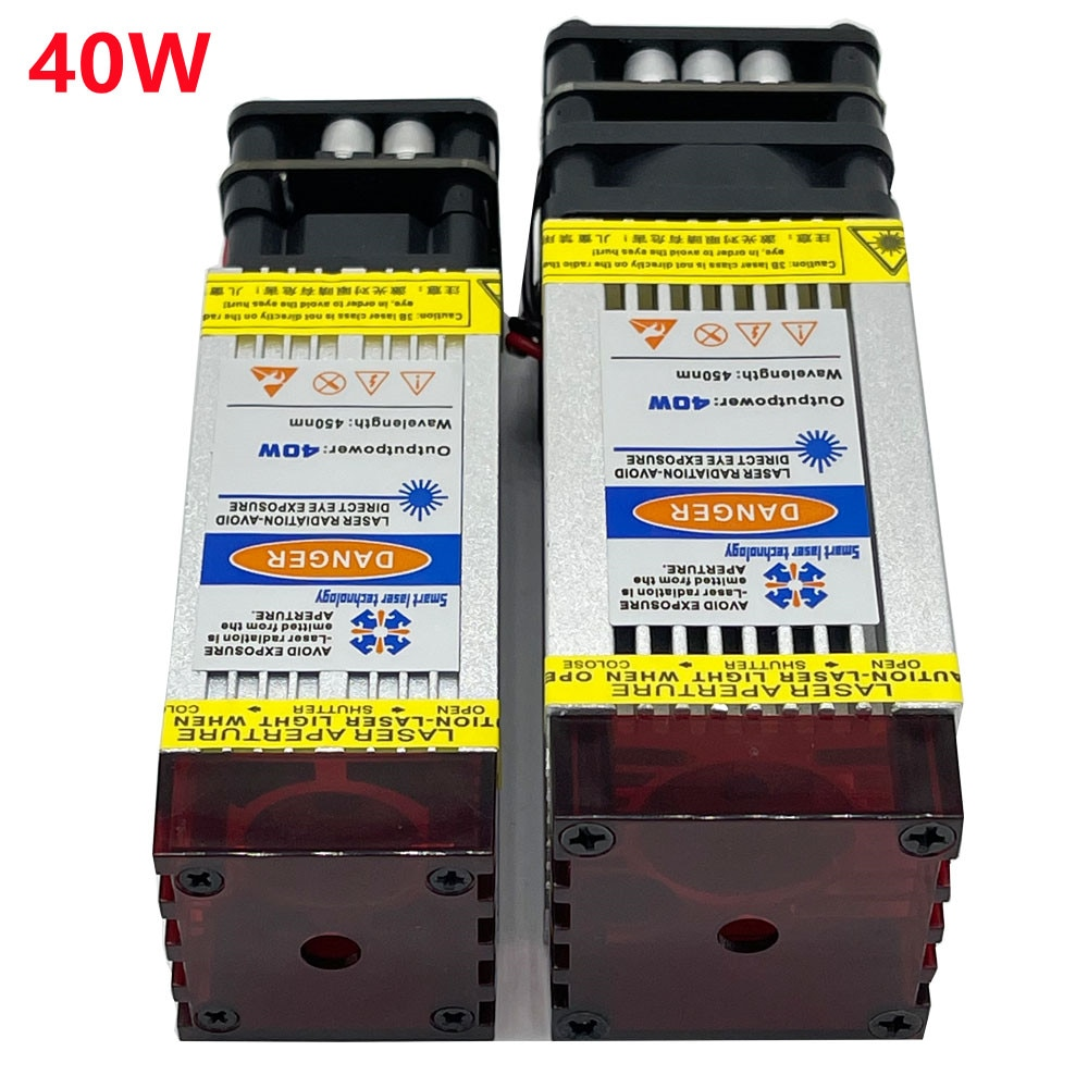 450nm 40W Laser Module Laser Head Fixed Focus Eye Protection Design for Laser Engraving and Cutting Woodworking Tools