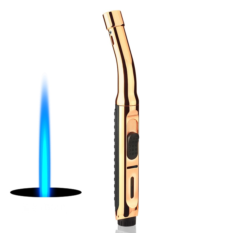 Купить с кэшбэком Super Long BBQ Kitchen Cooking Gas Lighter Torch Turbo Lighter Cigar Smoking Lighters Metal Cigarette Lighters Gadgets for Men