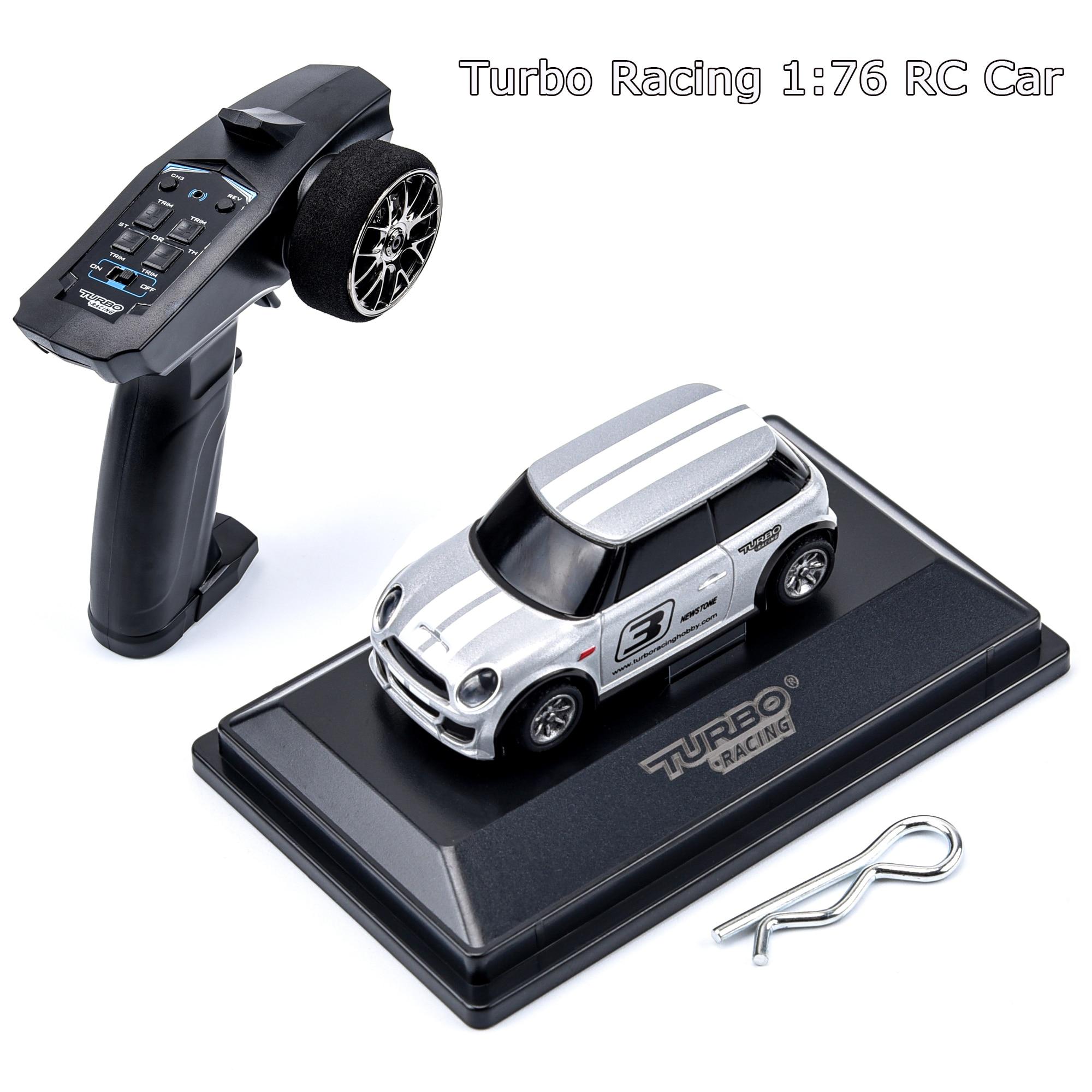 Turbo Racing 1:76 RC Car Mini Full Proportional Electric Race RTR Car Kit 2.4GHZ Racing Experience C