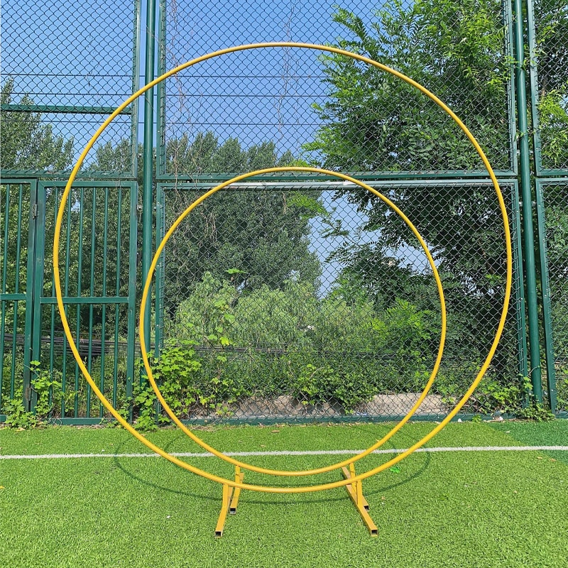Circle Wedding Birthday Arch Decoration Background Wrought Props Single Arch flower door rack Outdoor Lawn