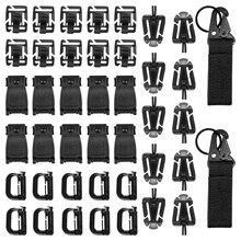 42/32 pces tático engrenagem clipe fivela cinta d-anel gancho chaveiro cinta para molle mochila webbing acessórios ferramentas de acampamento ao ar livre