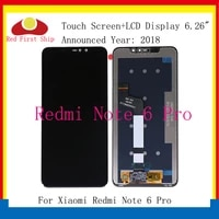 10pcslot lcd for xiaomi redmi note 6 pro lcd display screen replacement for redmi note 6 pro lcd complete assembly