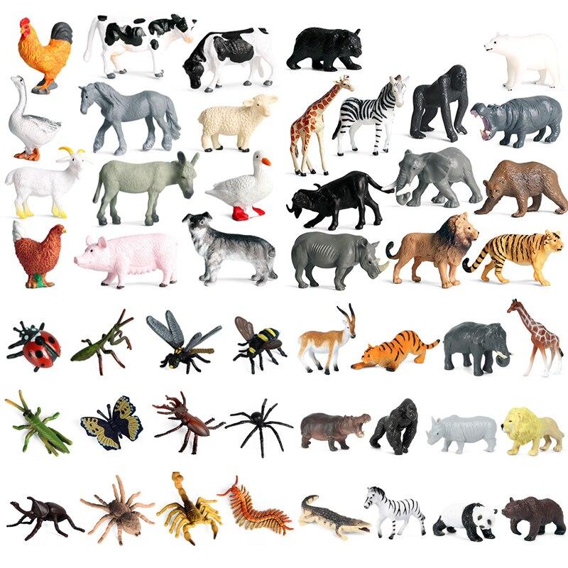 животные фигурки развивающие игрушки 12 шт. сафари животных Набор фигурок джунгли фигурки животных отличные Обучающие игрушки игровой набо...