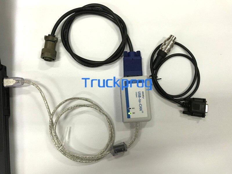 FOR MTU USB-to-CAN V2 COMPACT IXXAT FOR MTU DiaSys+MTU MDEC ECU4 test Cable+MUT ADEC ECU7 Diagnostic Cable MTU DIAGNOSTIC tool