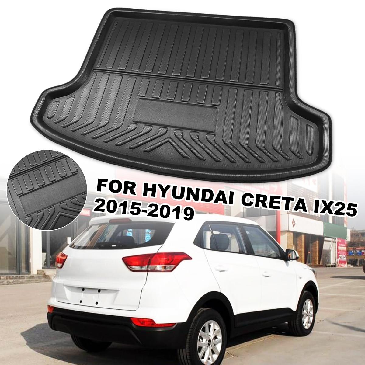 Revestimiento de maletero de coche bandeja de maletero para cubierta de maletero alfombrilla mate alfombra de piso almohadilla de patada para Hyundai Creta ix25 2015 2016 2017 2018 2019