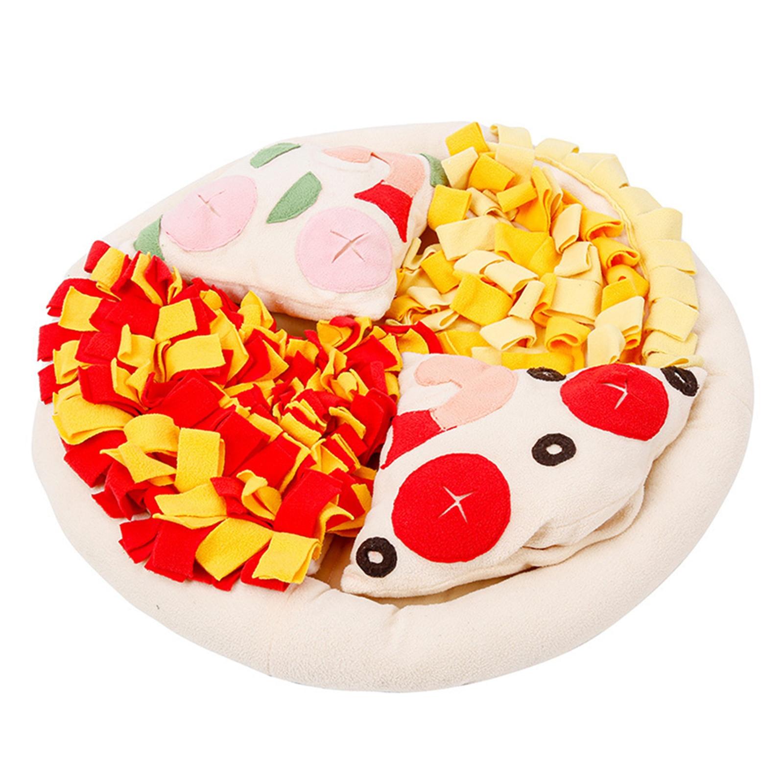 Velo de Alimentação Formação de Treinamento Suprimentos para Animais de Estimação Pizza Redonda Snuffle Esteira Lenta Antiderrapante Habilidade Nariz Trabalho Destacável Brinquedo Cão