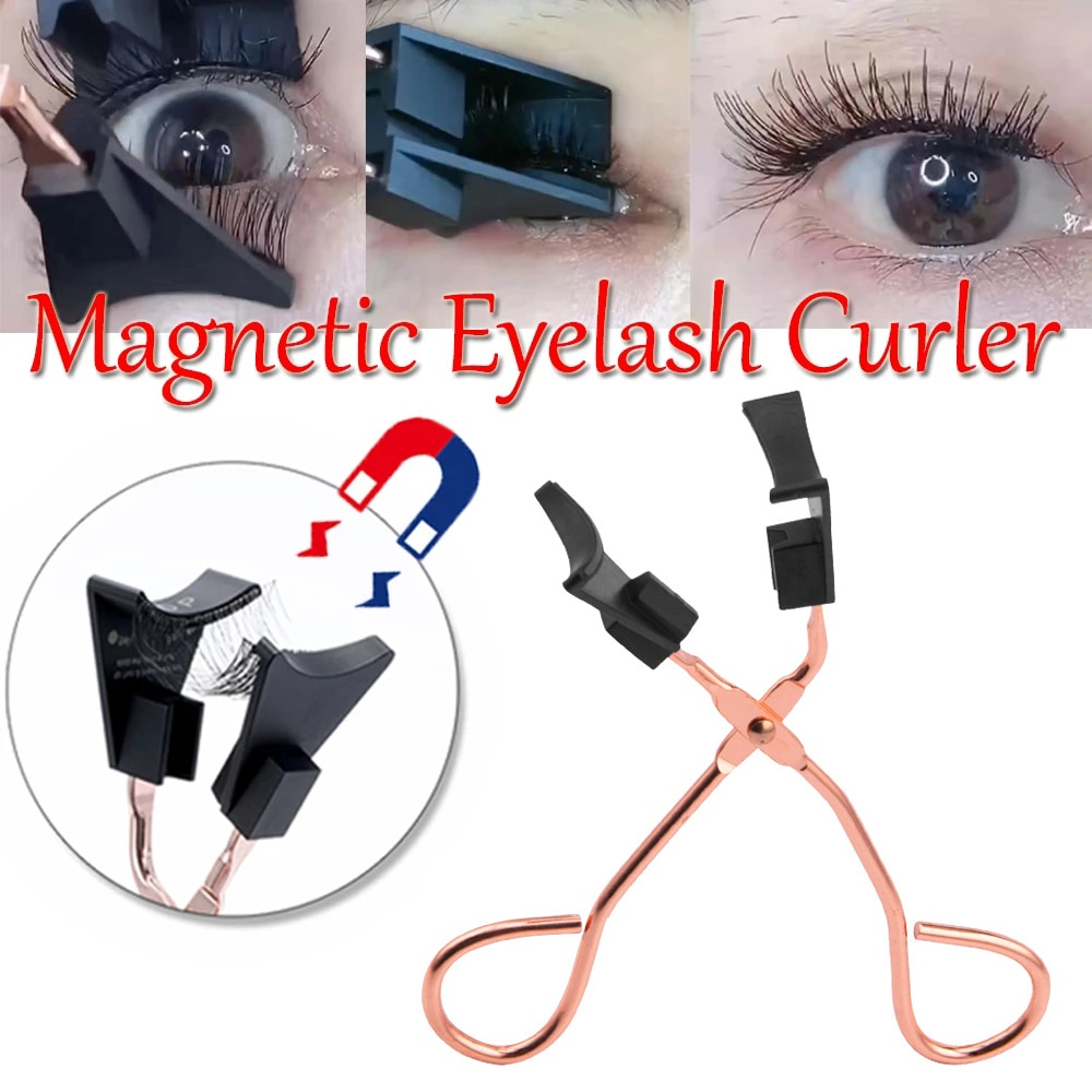 1PC Quantum Magnetic Eyelashes  Curler Tweezer Curling Eye Lashes Clip Fake Lashes Clamp Cosmetic Be