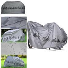 Gris Polyester Durable couverture de vélo imperméable à leau étanche à la pluie couverture anti-poussière pour voyage en plein air randonnée cyclisme Camping randonnée