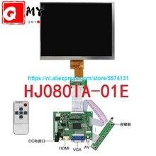8 pulgadas de pantalla lcd de HJ080IA-01E 1024*768 IPS hd pantalla LCD + HDMI/VGA/AV Control Junta