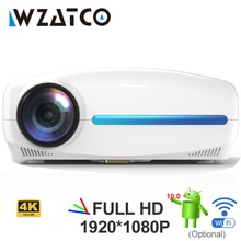 WZATCO C2 1920*1080P Full HD 200inch AC3 4D keystone LED Projector android 10.0 Wifi Portable 4K Hom