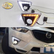 Pour Mazda CX-5 CX 5 CX5 2012 2013 2014, avec fonction de clignotant jaune étanche voiture DRL 12V LED feux diurnes SNCN