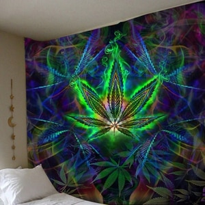 New 3D Print Maple Leaf Wall Hanging Tapestry Bedroom Decor Home Decor Wall Tapestry Art Tapiz Bohemian Curtains