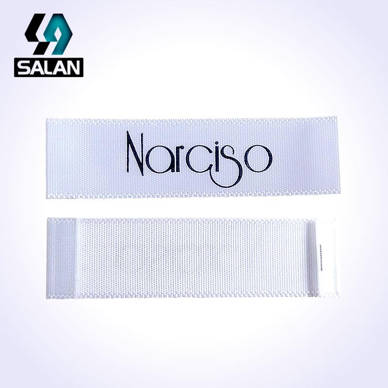 Custom Logo Print Sewing Single Satin Ribbon Fabric for Cloth Label and clothing Tags Free Shipping
