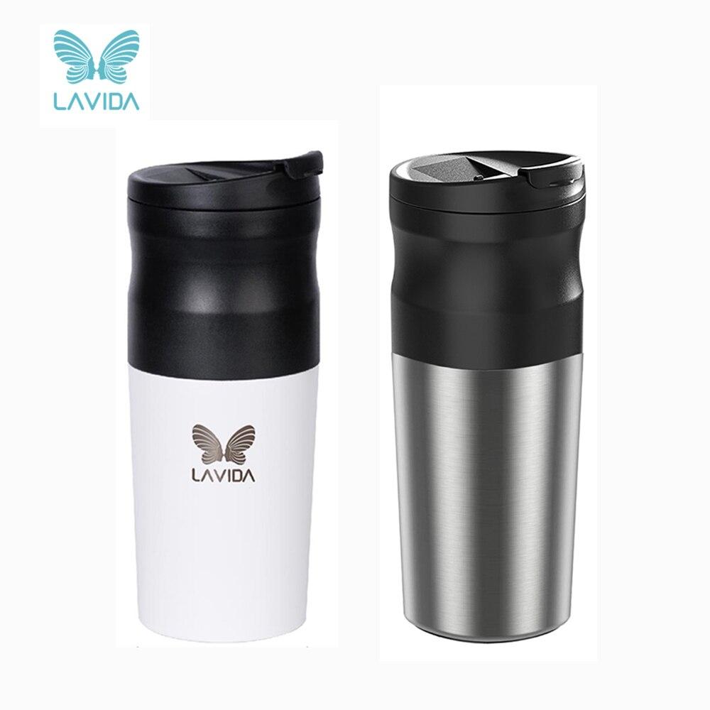 لافيدا-آلة إسبرسو كهربائية محمولة مع USB ، مطحنة قهوة نسبرسو ، طحن ، كوب حبوب القهوة للتخييم