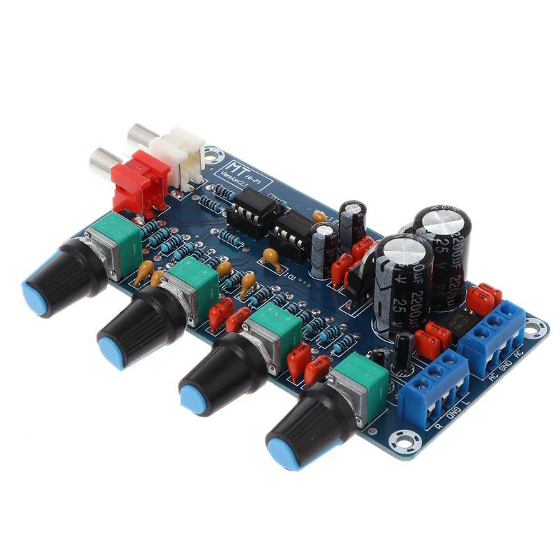 Dual AC 12V-18V NE5532 Preamplifier Volume Tone Treble Midrange Bass Control Board DIY Kits