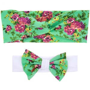1Set Winter Printed Rainforest Butterfly Floral Knotted Headwear Headband  For Girls Hair Accessories Holiday Party