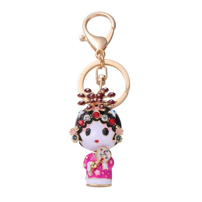 Llaveros de diamantes de imitación de estilo chino, llaveros creativos, adornos para manualidades