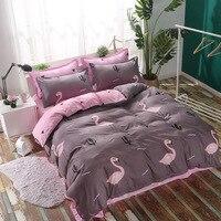 Tropical Plant Flower 4pcs Girl Boy Kid Bed Cover Set Duvet Cover Adult Child Bed Sheets Pillowcases Comforter Bedding Set 61027
