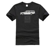 Hommes impression à manches courtes t-shirt tendance brique Volvo 245 Wagon voiture mâle organique coton homme mode été t-shirt