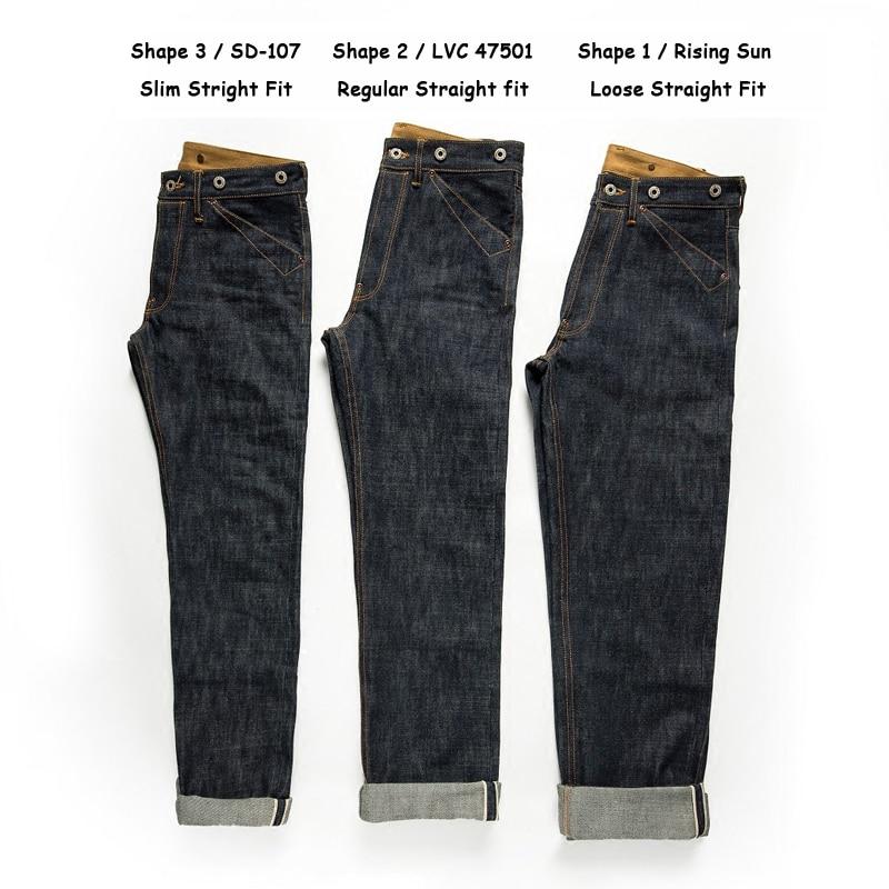 بنطلون جينز أحمر حدادة مشبك خلفي 16.5oz خام Selvedge ساق مستقيمة من الدنيم
