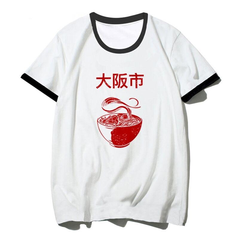 Osaka Shi Ramen O Neck Men Tshirt Short Sleeve Print T Shirt Casual Loose Summer Women T Shirt Cool T-Shirt