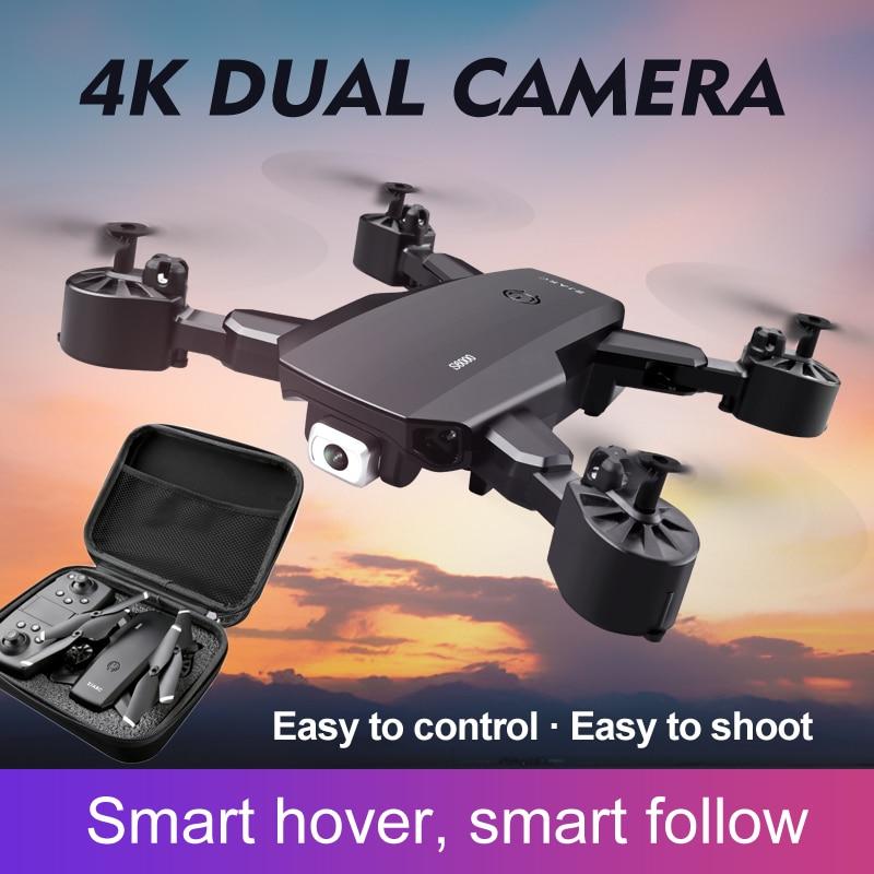 Dron Profesional 4k con Wifi, cuadricóptero plegable en tiempo Real, vídeo Roll, sin cabeza, de regreso con una sola tecla con cámara, helicóptero de juguete para niños