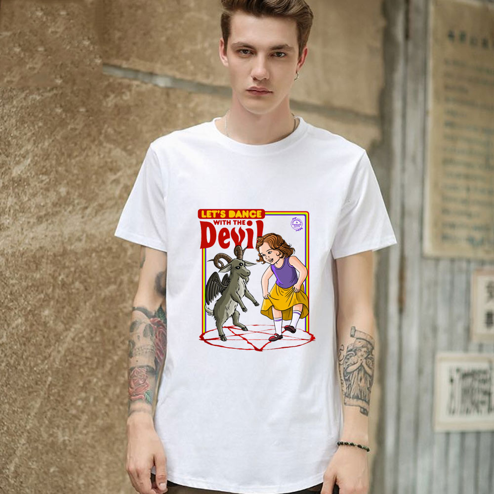 Satan T-shirt Evil Children Demons Ritual Scary Horror Devil T Shirt Pentacle Satanism Hell Ouija Hail Angels Evil Children Tops