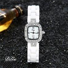 DIGU mode femmes diamants montres-bracelets céramique bracelet de montre haut de gamme marque robe dames genève Quartz horloge relogio feminino