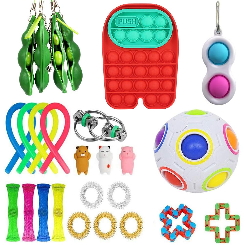 26 pack Fidget Sensory Toy Set Stress Relief Toys Autism Anxiety Relief Stress Pop Bubble Fidget Toy For Kids Adults Party Favor enlarge