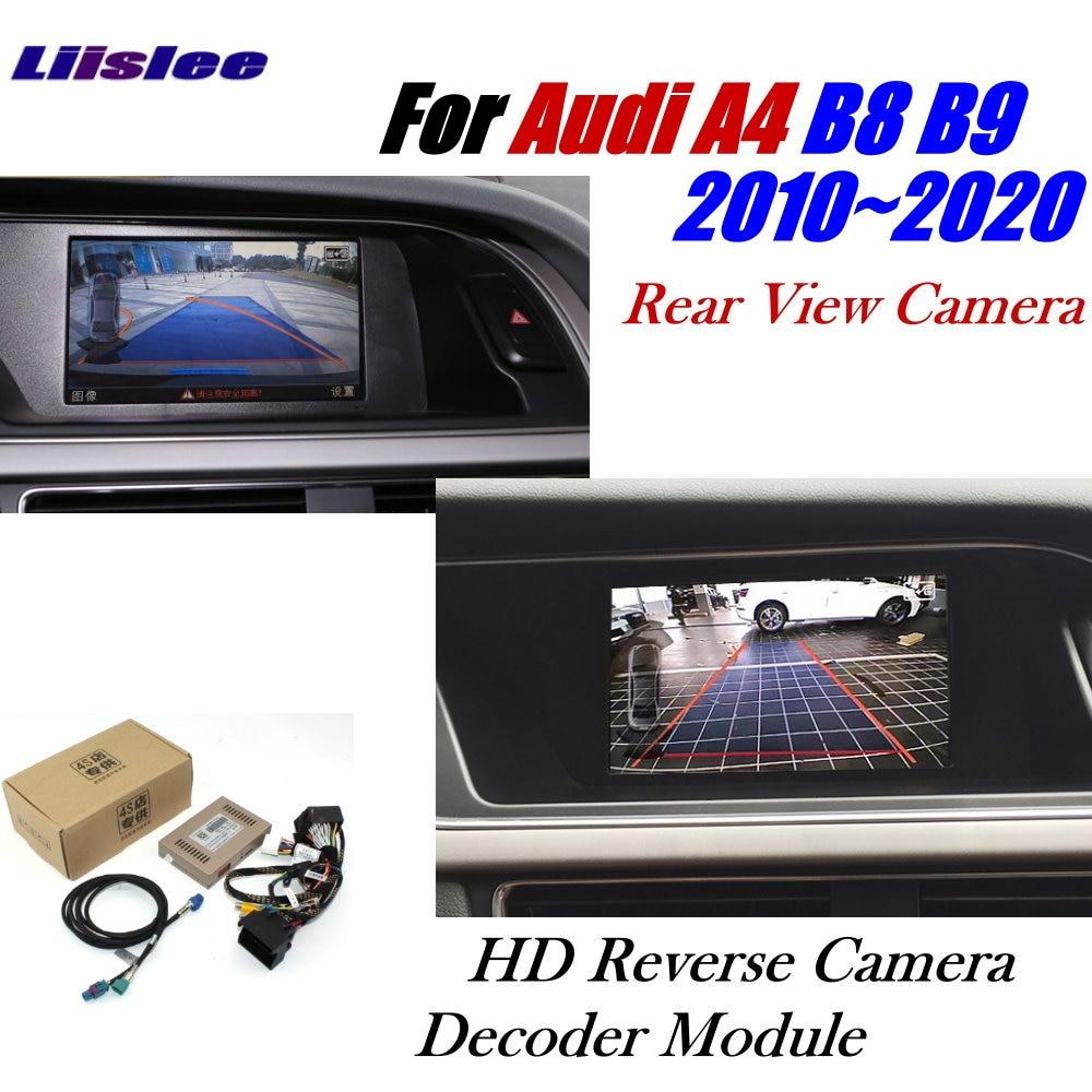 Car Rear Reverse Camera For Audi A4 B8 B9 MMI 2011~2020 Interface Adapter Parking Backup Camera Connect Original Screen Decoder