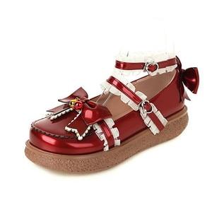 Comfortable Flat Bottom Platform Shoes For Women Thick Bottom 30-43 Ruffles Sweet Bow Princess Casual Single Shoes Women