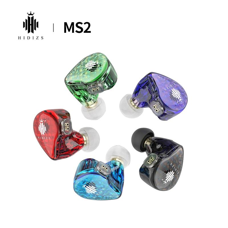 Hidizs MS2-سماعات أذن سلكية ، برامج تشغيل مزدوجة هجينة ، HiFi ، BA 1 DD ، 2 دبوس ، كابل قابل للفصل 0.78 مللي متر