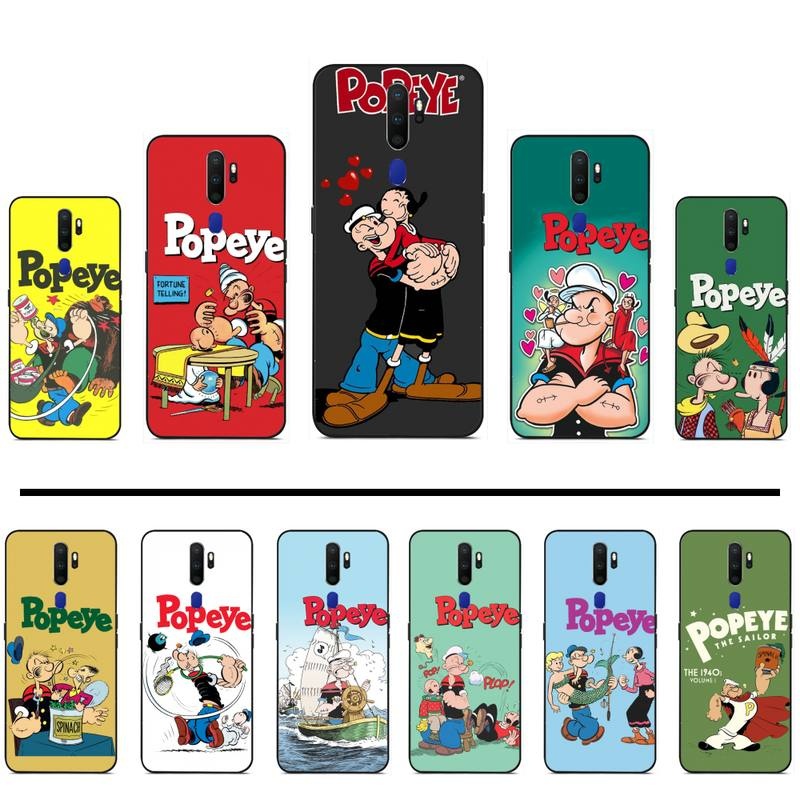 De dibujos animados Retro po pe os espinacas teléfono caso para OPPO F 1S 7 9 K1 A77 F3 RENO F11 A5 A9 2020 A73S R15 verdadero yo PRO