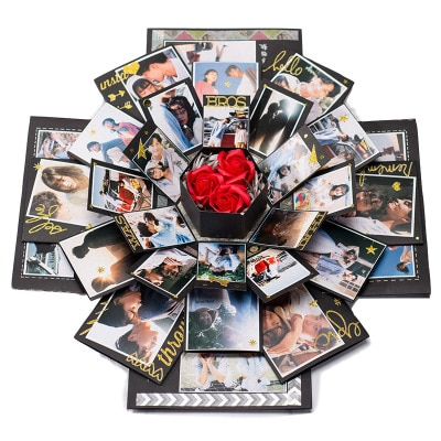 Фотоальбом сюрприз коробка Свадьба Любовь память складной многослойный Сделай Сам День Святого Валентина День рождения Годовщина взрыв ше...