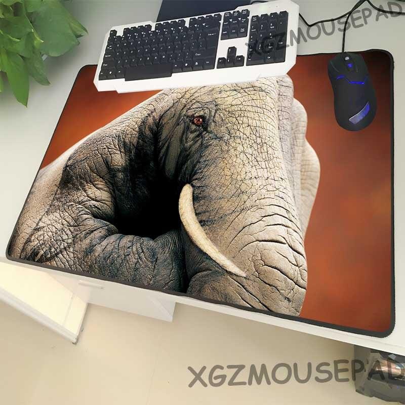 Alfombrilla de ratón XGZ de gran tamaño con diseño de Animal, con cierre negro, borde de elefante, mano, Graffiti, gesto, alfombrilla para escritorio de ordenador, de goma, antideslizante, Universal