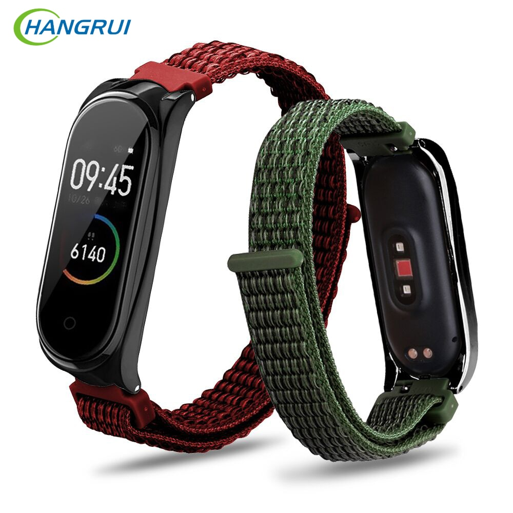 Hangrui Mi band 4 ремень холщовый нейлоновый ремешок в полоску для Xiaomi Mi Band 4 3 band 4 спортивный браслет ремень часы ремни