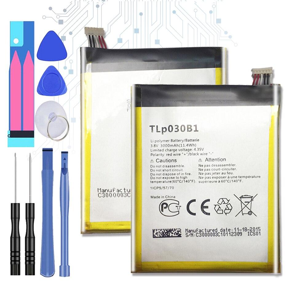 Batería de repuesto para Alcatel One Touch Pop S7 OT-7045 7045Y batería TLp030B2 TLp030B1 3000mAh con código de seguimiento