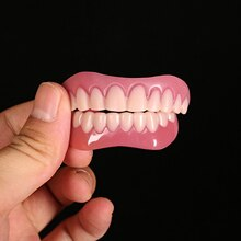 2 pièces placages du bas supérieur fausses dents Smil e cosmétique Denture dents fausses dents