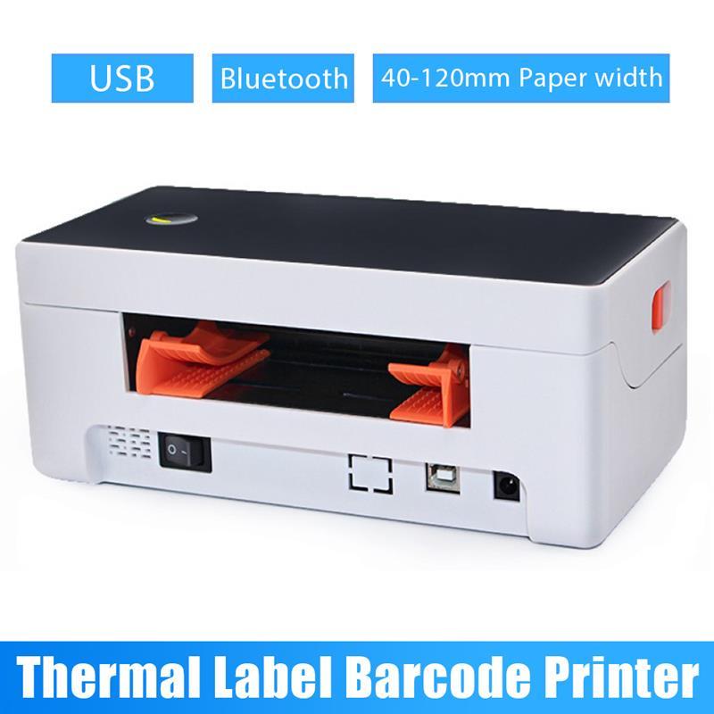 العلامة التجارية الجديدة آلة وضع العلامات لاصق الباركود بوليصة الشحن تسمية طابعة حرارية USB بلوتوث اللاسلكية صريحة الطباعة السريعة