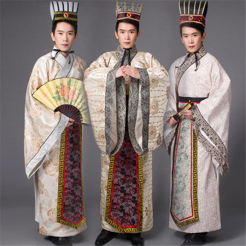 أزياء Hanfu للرجال على الطراز الصيني بأكمام طويلة ، بدلة Hanfu Tang ، أزياء المسرح للرجال ، أزياء hanfu التنكرية