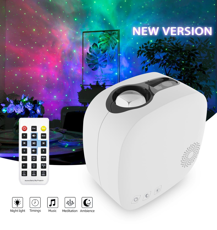 Bluetooth starry sky Projector LED Night Light Projector Galax Nebula Ocean Music Speaker Control Star Projector Moon Night Lamp enlarge