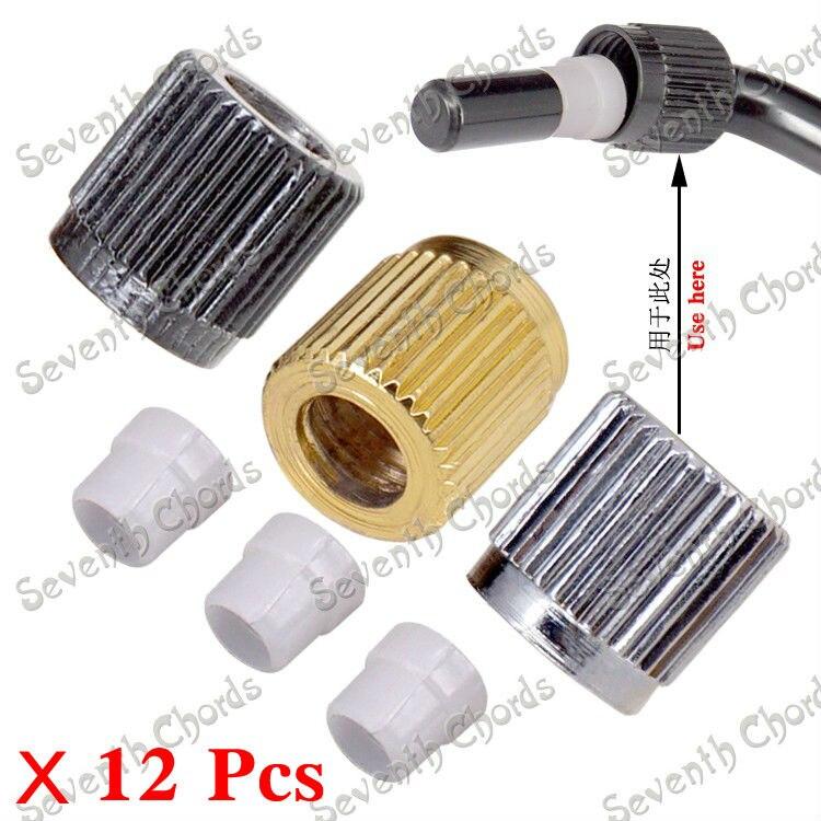 12 Uds Tremolo Whammy Bar casquillo roscado y manga de plástico puntera para arandela de buje para guitarra eléctrica