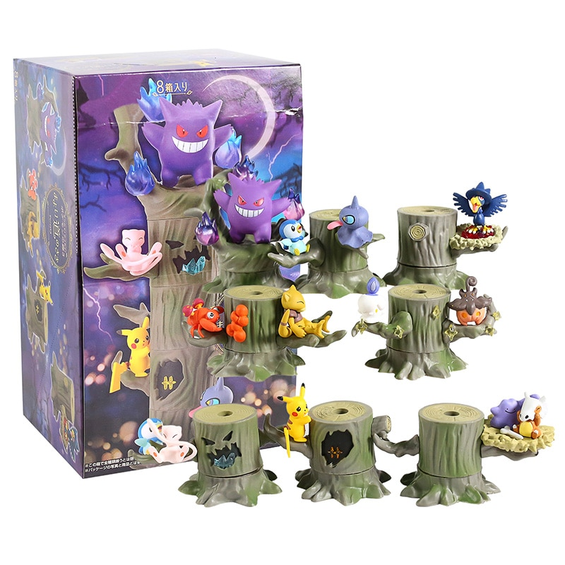 Monstruo bosque 2 Vol.3 Pokemon Mew Ditto Cubone Litwick Pumpkaboo párrs Abra Piplup Shuppet Murkrow PVC modelo Juguetes