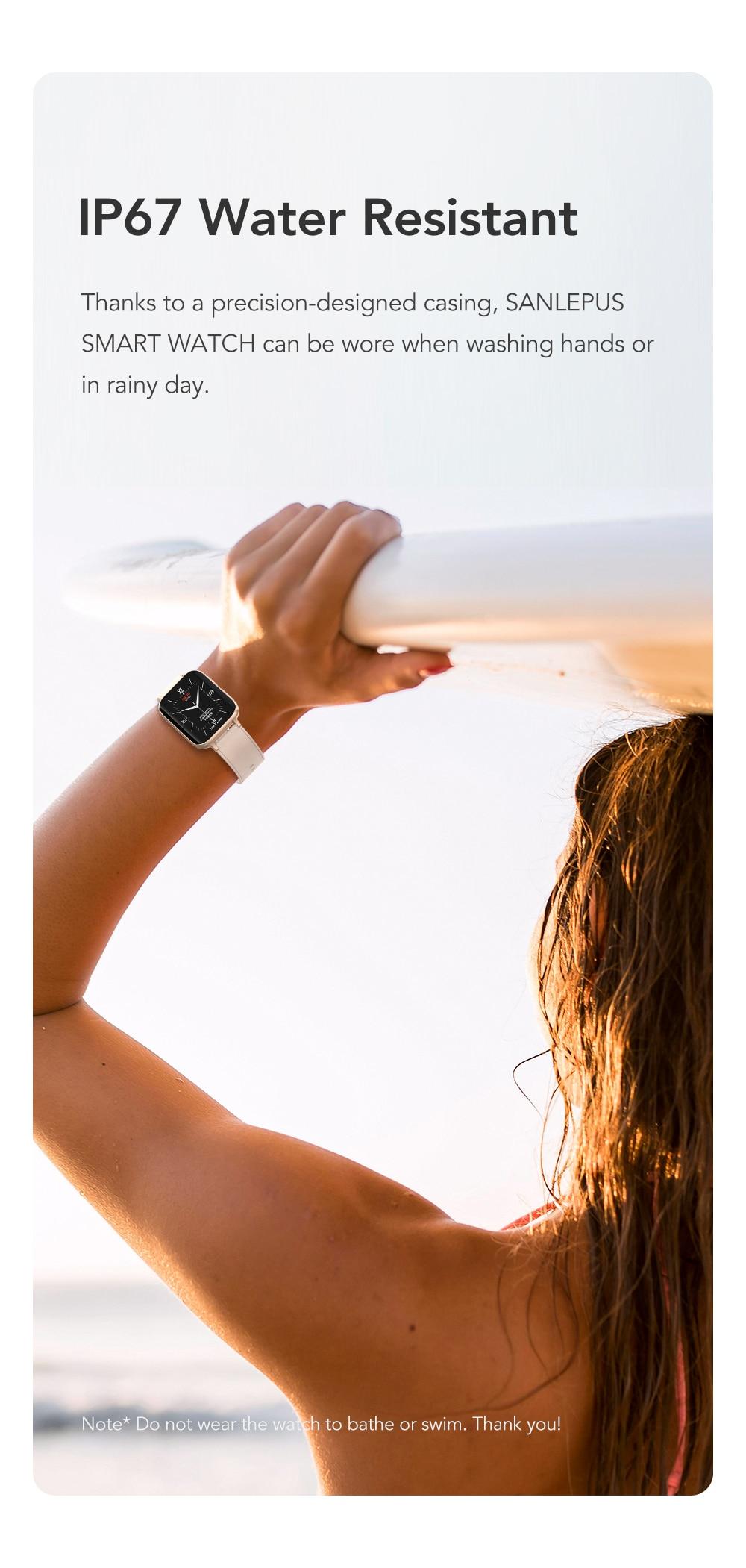 H919459d39bdd4ca0a84cfc48956dc85aI SANLEPUS 2021 NEW Dial Calls Smart Watch Men Women Waterproof Smartwatch MP3 Player For OPPO Android Apple Xiaomi Huawei