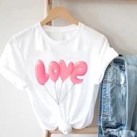 design fairy kawaii women t shirts for summer alphabet love cartoon printed womens t shirt dress fashion womens clothing 2021