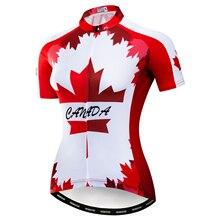 Maillot de cyclisme femme manches courtes dame Canada/états-unis/France/royaume-uni équipe de pays vtt petit haut Maillot de vélo Maillot vêtements de vélo