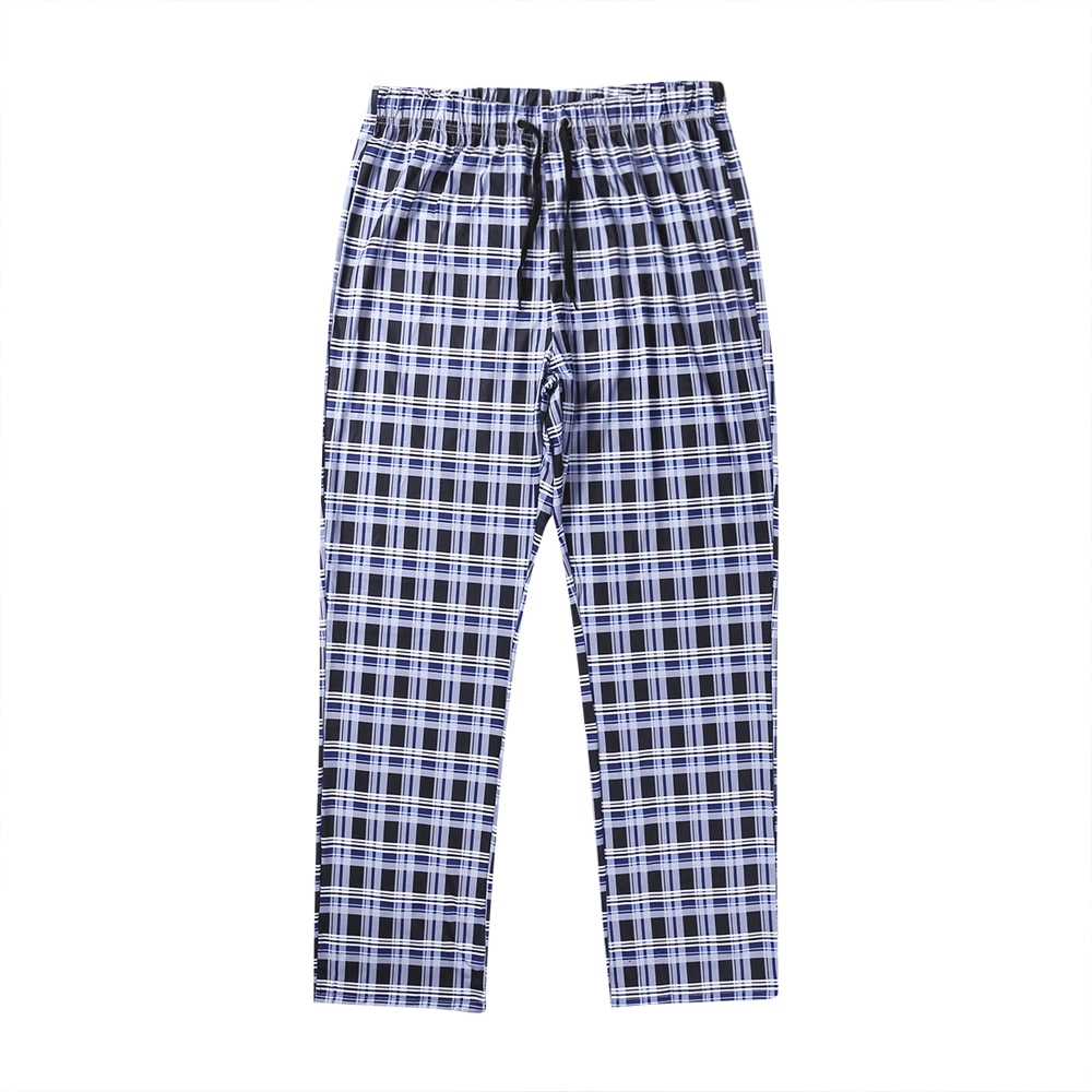Size M-2XL Casual Loose Pants Trousers Men's Loose Sleep Bottoms Plaid Flannel Lounge/Pajama Pants